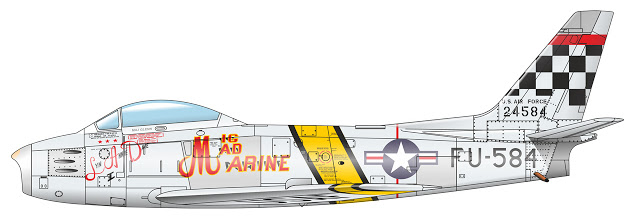 1+F-86F-30%2C+25th+FIS51st+FIW%3B+Suwon+Air+Base+%28K-13%29%2C+Korea+1953+%E2%80%9CMig+Mad+Marine%E2%80%9D%2C+flown+by+John+Glenn+%281%29